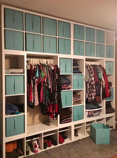 kallax wardrobe wall hulderheimen   pinterest