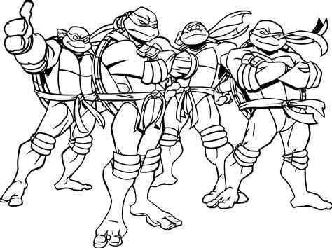 Ninja Turtles Coloring Pages Coloringsuitecom