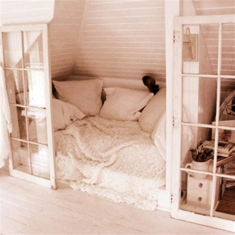 yes bed in closet cozy places eclectic home