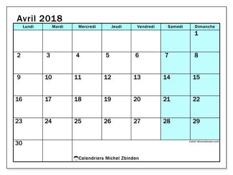 bureau plus ca calendriers avril 2018 ld