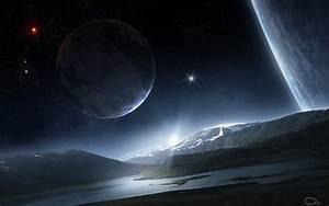 art qauz space planet star landscape surface satellite ...