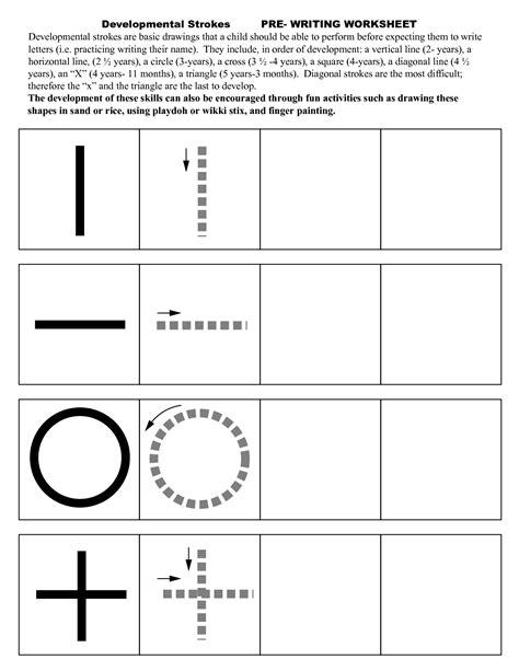 pre writing strokes worksheets edukacyjne