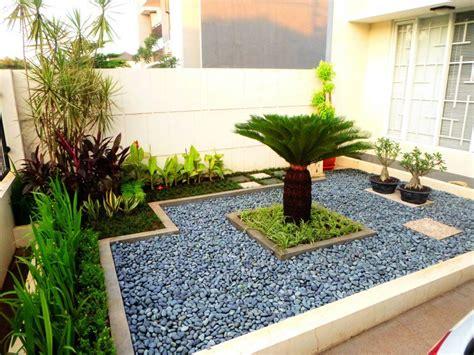 desain taman minimalis batu alam asri taman minimalis