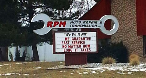 funny auto repair shop signs auto shop website design