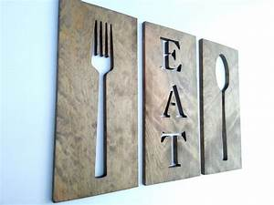 Wood crafts diy art fork spoon and eat wooden
