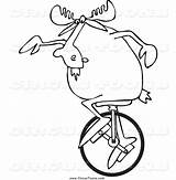 Unicycle Clipart Moose Circus Coloring Pages Printable Djart Clipartmag Template Clown Royalty sketch template