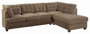 odessa waffle suede reversible sectional sofa brown With odessa waffle suede reversible sectional sofa with ottoman