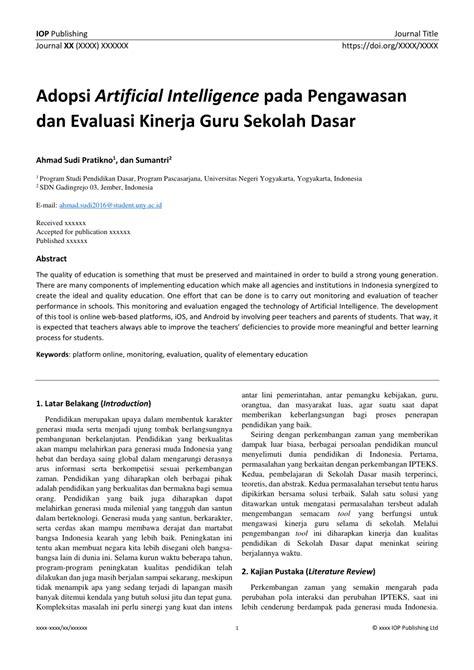 (PDF) Adopsi Artificial Intelligence pada Pengawasan dan
