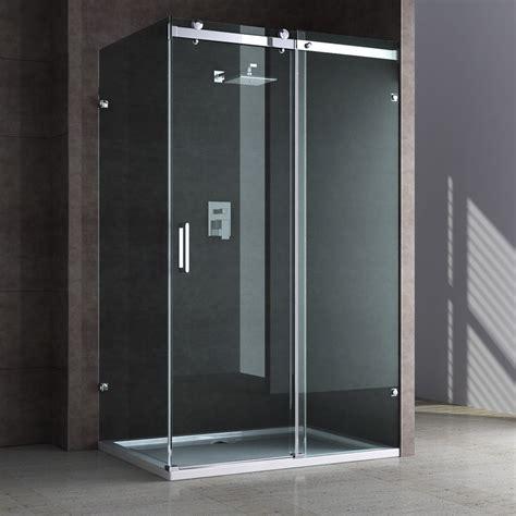 dusche aus glas echt glas dusche duschabtrennung duschkabine schiebet 252 r aus sicherheitsglas neu ebay