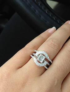 Halo ring halo ring wrap enhancer rings pinterest for Wedding band to go with halo ring
