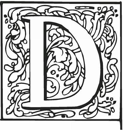 Printable Letters Alphabet Coloring Fancy Letter Pages