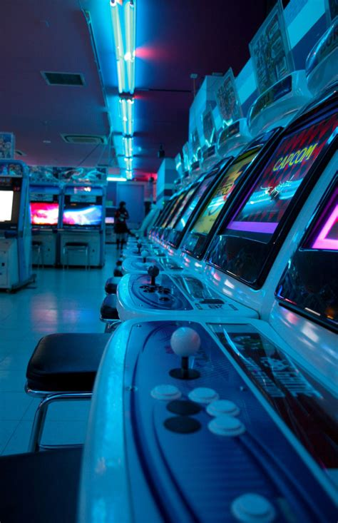 arcade aesthetic blue glow aesthetic colors blue