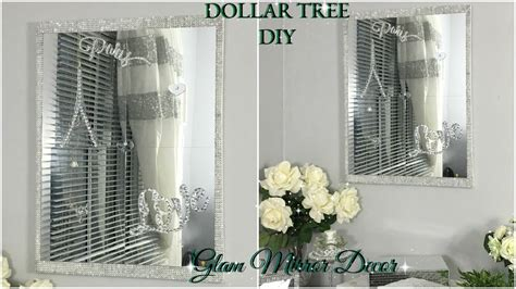 dollar tree diy quick  easy mirror wall decor diy