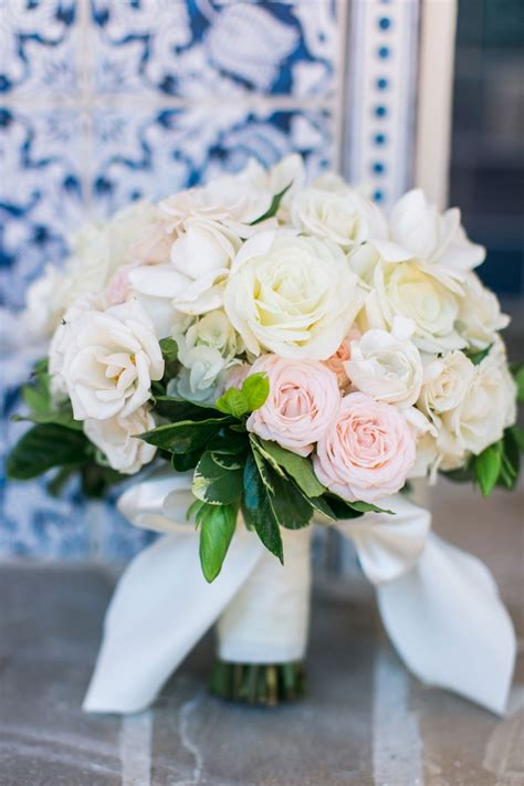 bouquets  white pink rose bouquet  leaves