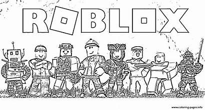 Coloring Pages Roblox Printable Team