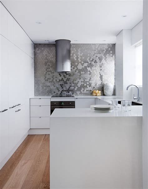 metal backsplash tiles for kitchens sparkling trend 25 beautiful kitchens with bright