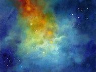Night Sky Oil Painting