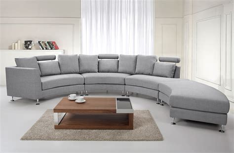 canapé arrondi seven seater grey rotunde upholstery sofa