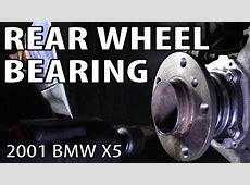 How to Change a Rear Wheel Bearing on an E53 BMW X5 YouTube