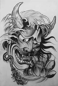 Demon Japonais Dessin : les 53 meilleures images du tableau hannya mask sur pinterest id es de tatouages tatouages ~ Maxctalentgroup.com Avis de Voitures