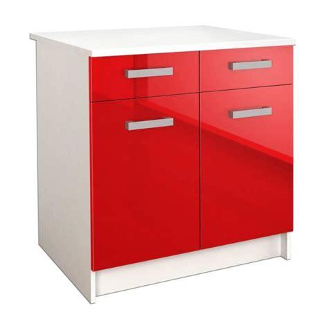 cdiscount meubles de cuisine start caisson bas de cuisine l 80 cm avec plan de travail
