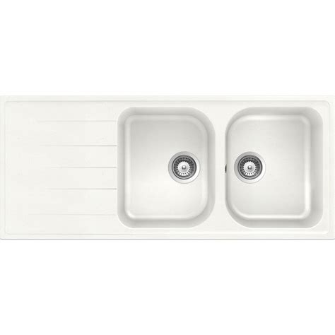 lavello schock lavello schock lithos d200a 2 vasche cristalite bianco