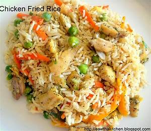 Savitha's KitchenChicken Fried Rice