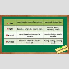Adjective Order English Grammar Youtube