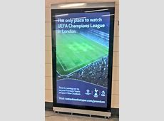 Tottenham troll Arsenal and Chelsea with 'Only place to