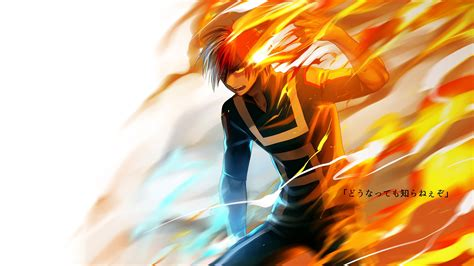 Shoto Todoroki Flame My Hero Academi... Wallpaper #30280