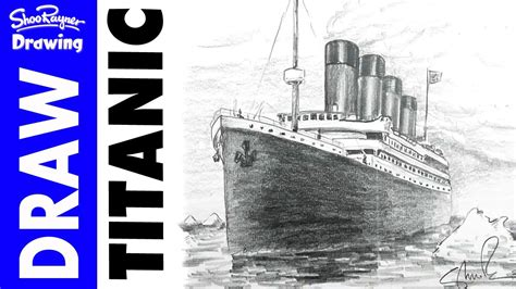 draw  titanic  pencil youtube