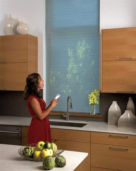 contemporary kitchen blinds daytime views with nighttime privacy drapery 2466