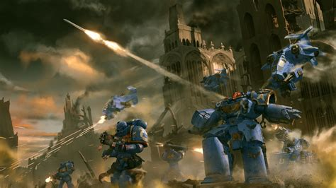 full hd wallpaper warhammer space marine ruin battle
