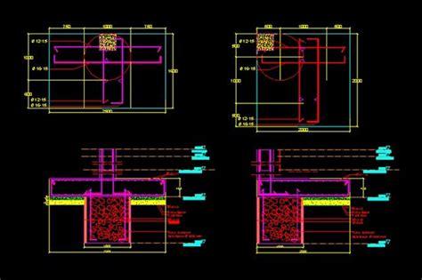 detail pondasi sumuran file dwg autocad desain
