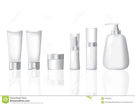 Package Cosmetic Silver Set Stock Illustration