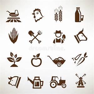 Farm And Agriculture Vector Icons Stock Vector - Image ...