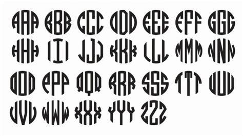 monogram fonts  vinyl wowcom image results monogram fonts circle monogram font