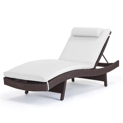dijon curved single chaise lounge by caluco wicker