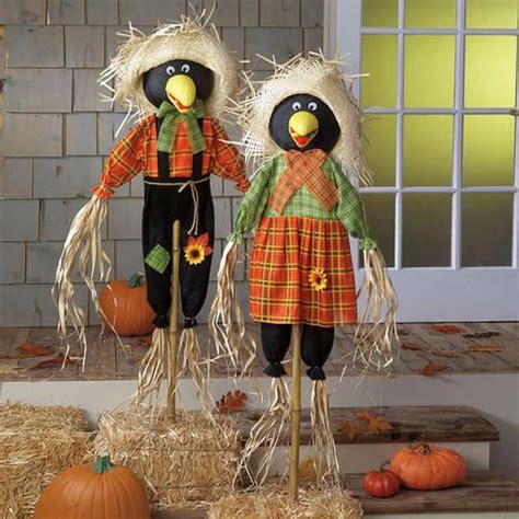 crow scarecrow   decor