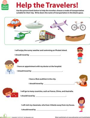 free transport worksheets for grade 2 all about transportation which mode teaching social