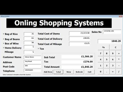 vba excel billing systems project tutorial  youtube