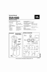 Jbl Sva 1600 Service Manual  U2014 View Online Or Download