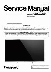Panasonic Tx 39asw654 Led Tv Service Manual   Schematics