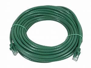 Monoprice 50 Foot Green Flexboot Cat5e Utp Ethernet Network