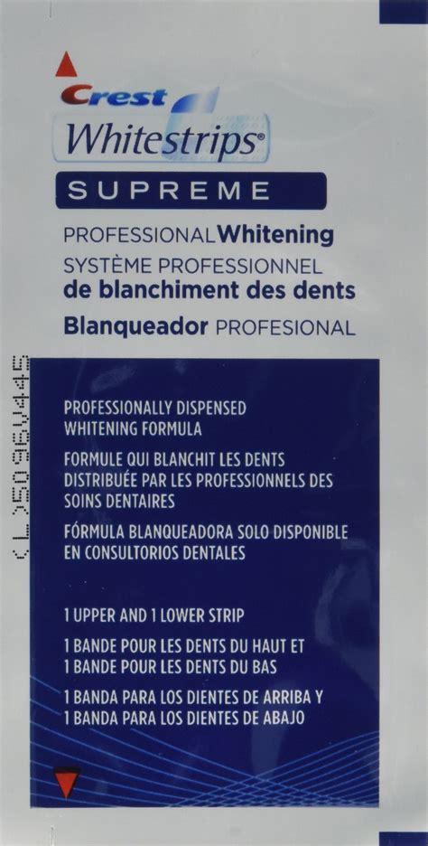 crest whitening strips supreme crest whitestrips supreme professional