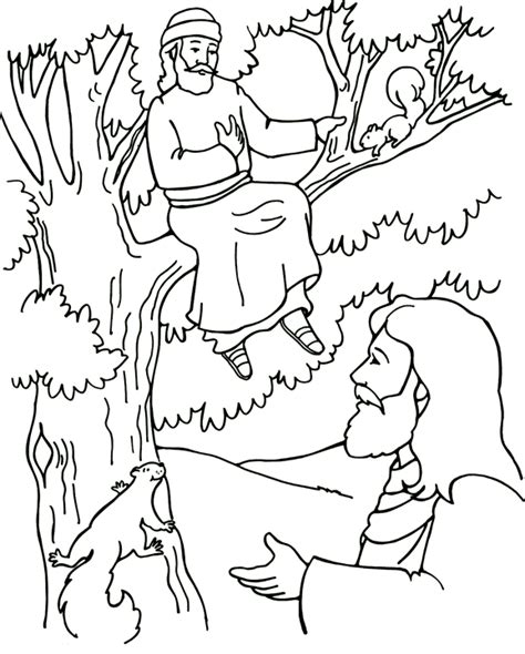 zacchaeus coloring template coloring pages