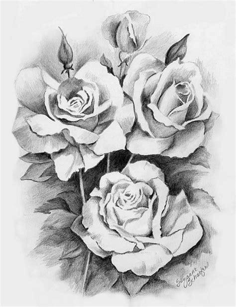 Pencil Drawing Roses | Pencil drawings, Drawings, Black rose flower