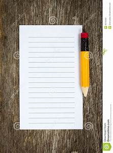 Pencil And Lined Paper Stock Photography - Image: 36755562