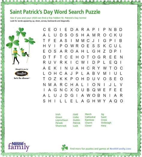 st s day puzzle printables search st