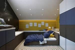 Kinderzimmer Streichen Dachschräge : w nde streichen ideen in dunklen schattierungen ~ Markanthonyermac.com Haus und Dekorationen